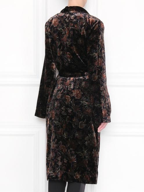 Платье с запахом, из вискозы, с цветочным узором - МодельВерхНиз1
