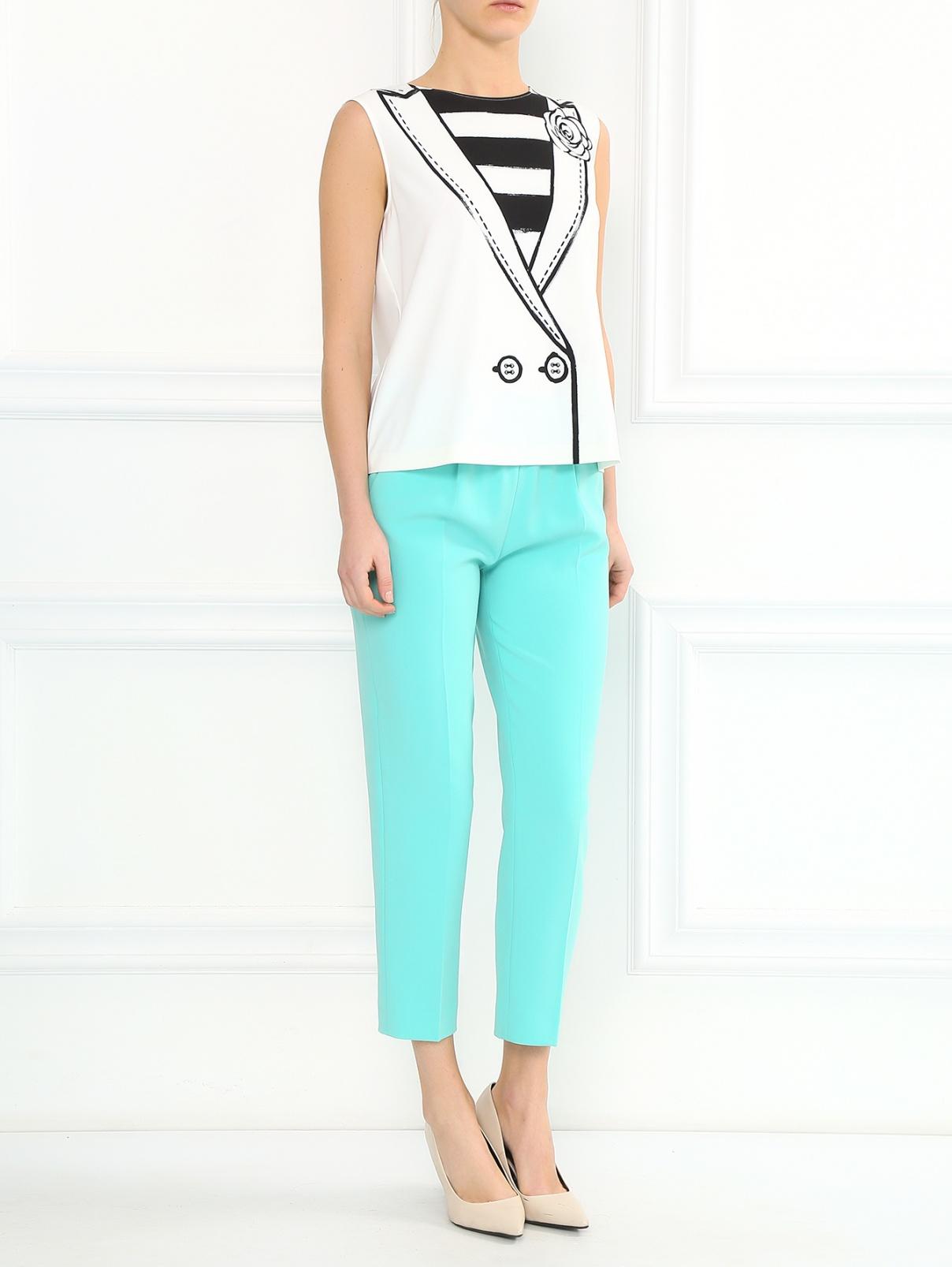 Укороченные брюки на резинке Moschino Boutique  –  Модель Общий вид
