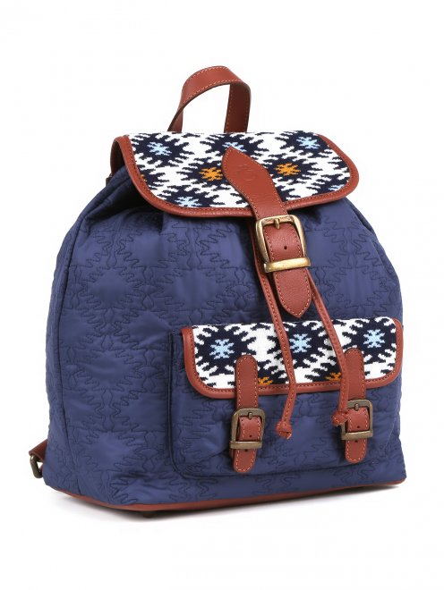 Рюкзак с принтоваными вставками  - Обтравка1