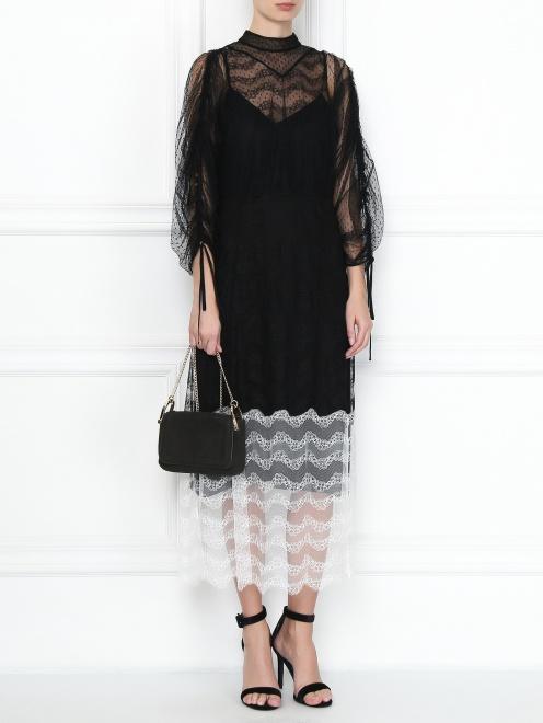 Платье-миди из кружева - Общий вид