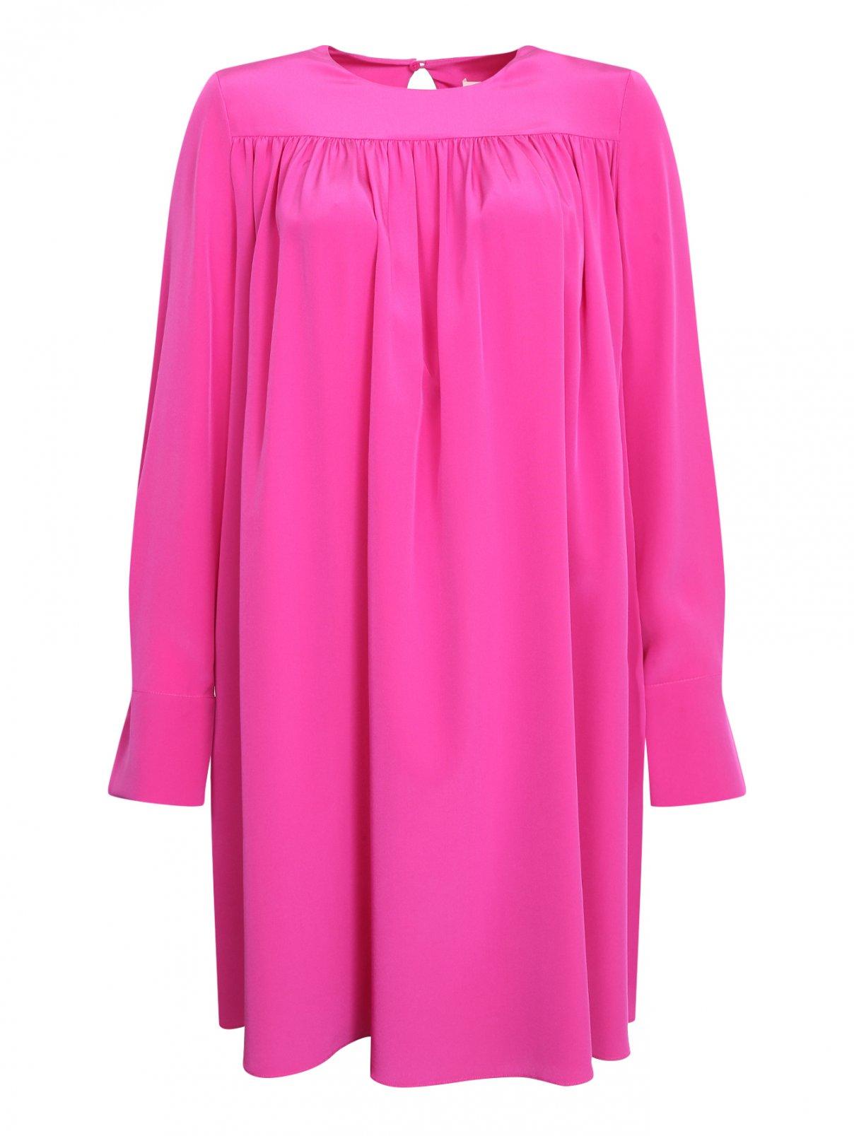 Платье из шелка свободного силуэта Diane von Furstenberg  –  Общий вид  – Цвет:  Фиолетовый