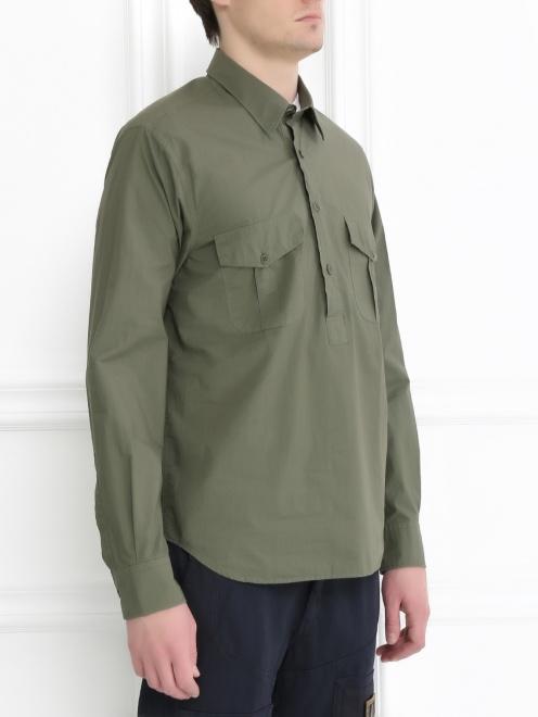 Рубашка из плотного хлопка - Модель Верх-Низ