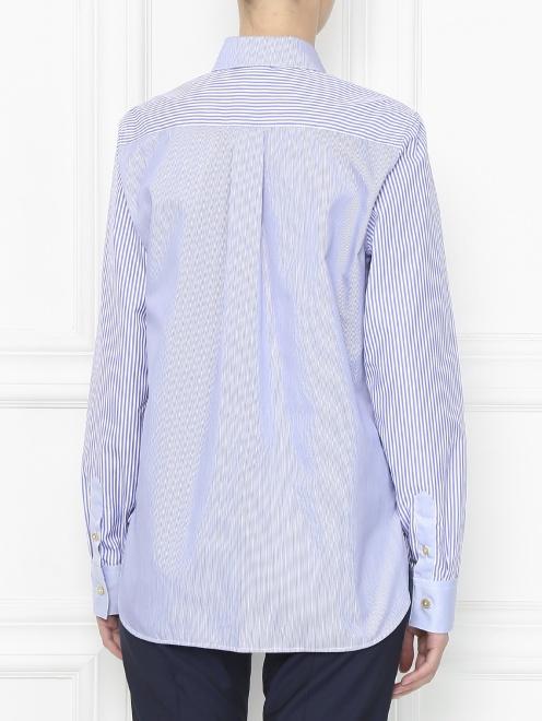 Рубашка из хлопка с узором полоска - МодельВерхНиз1