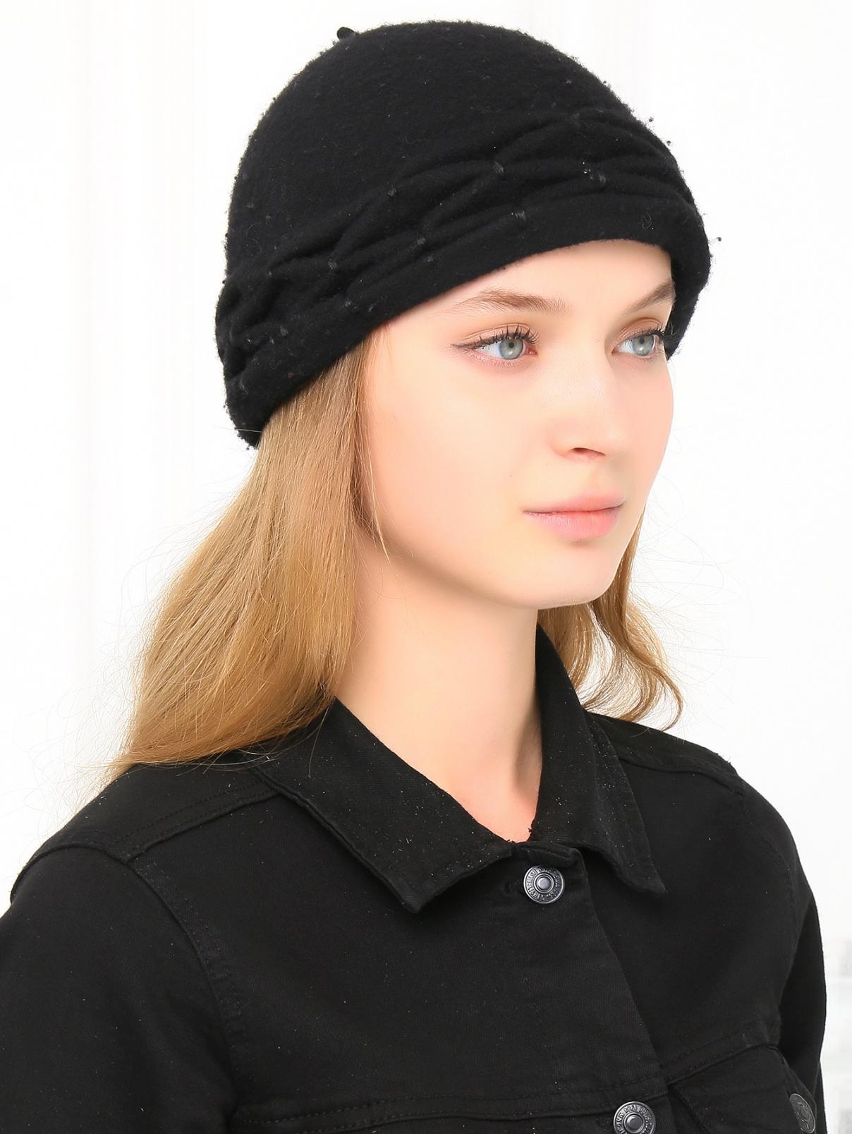Шапка из шерсти Mariella Burani  –  Модель Общий вид  – Цвет:  Черный