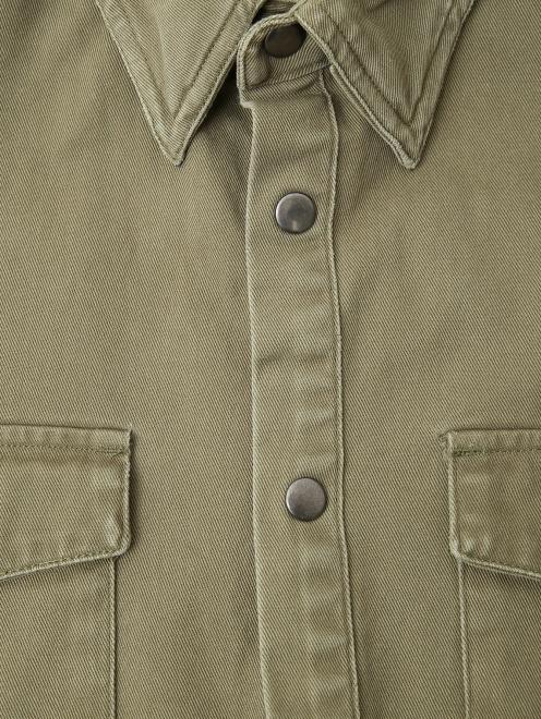 Рубашка из хлопка с принтом на спине - Деталь