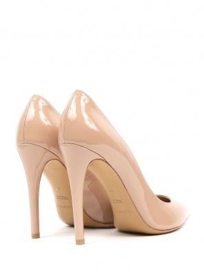 Emporio Armani бежевые туфли-лодочки из лаковой кожи (367901) купить ... 621044a9e99