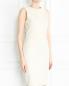 Платье-футляр из кожи без рукавов Yves Salomon  –  Модель Верх-Низ