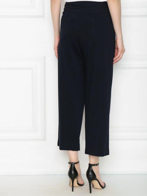 Широкие трикотажные брюки с металлическим декором - МодельВерхНиз1