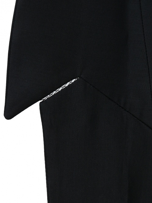 Жакет из шерсти и шелка с отложным воротником - Деталь