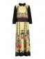 Платье-макси с цветочным узором и плиссировкой Isola Marras  –  Общий вид