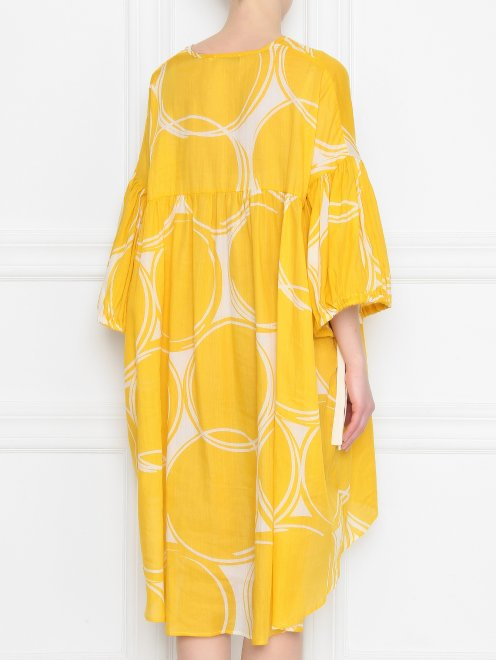 Платье из смесового хлопка свободного силуэта - МодельВерхНиз1
