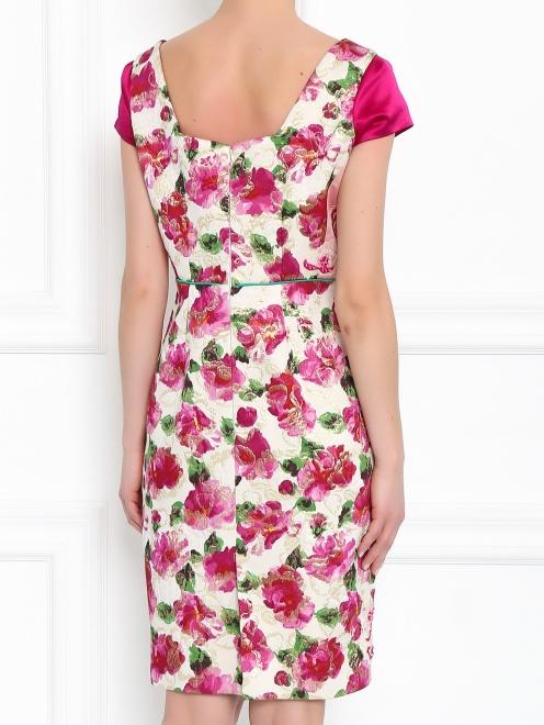 Платье из шелка с узором и декоративной отделкой - МодельВерхНиз1