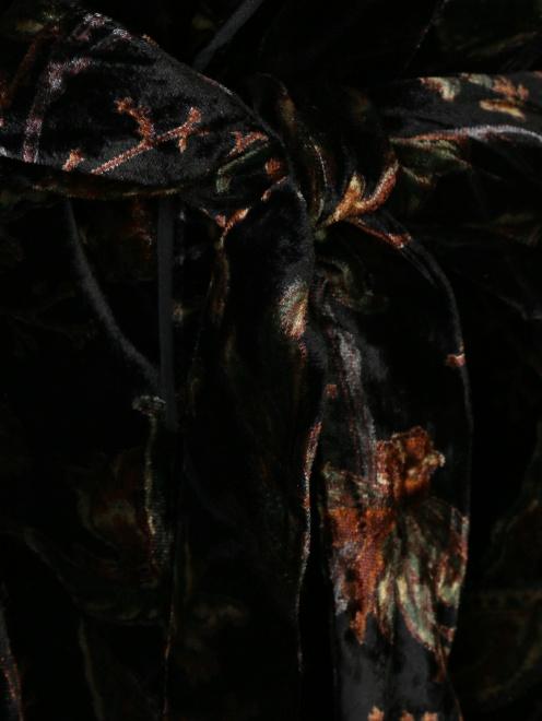 Платье с запахом, из вискозы, с цветочным узором - Деталь1