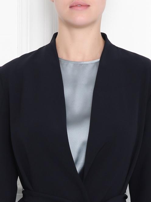 Жакет с поясом и плиссированной спинкой  - МодельОбщийВид1