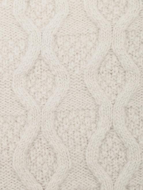 Шапка-ушанка из шерсти и кашемира  - Деталь1