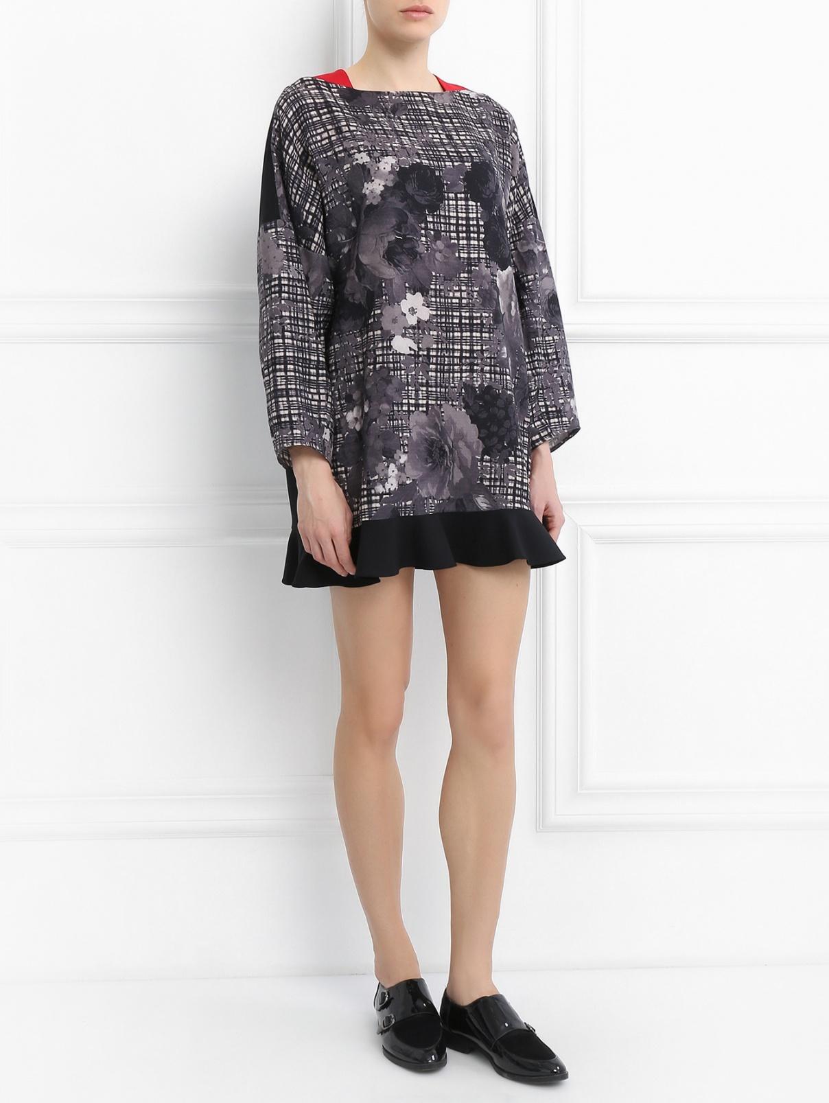 Платье из шерсти с цветочным узором Antonio Marras  –  Модель Общий вид