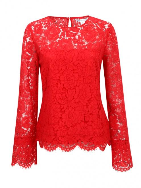 Блуза с кружевным узором - Общий вид