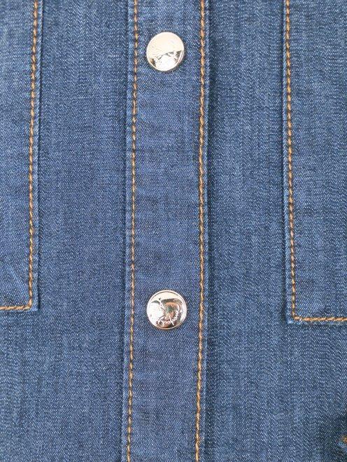 Удлиненная рубашка из денима - Деталь1