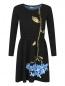 Трикотажное платье с цветочным узором Max&Co  –  Общий вид