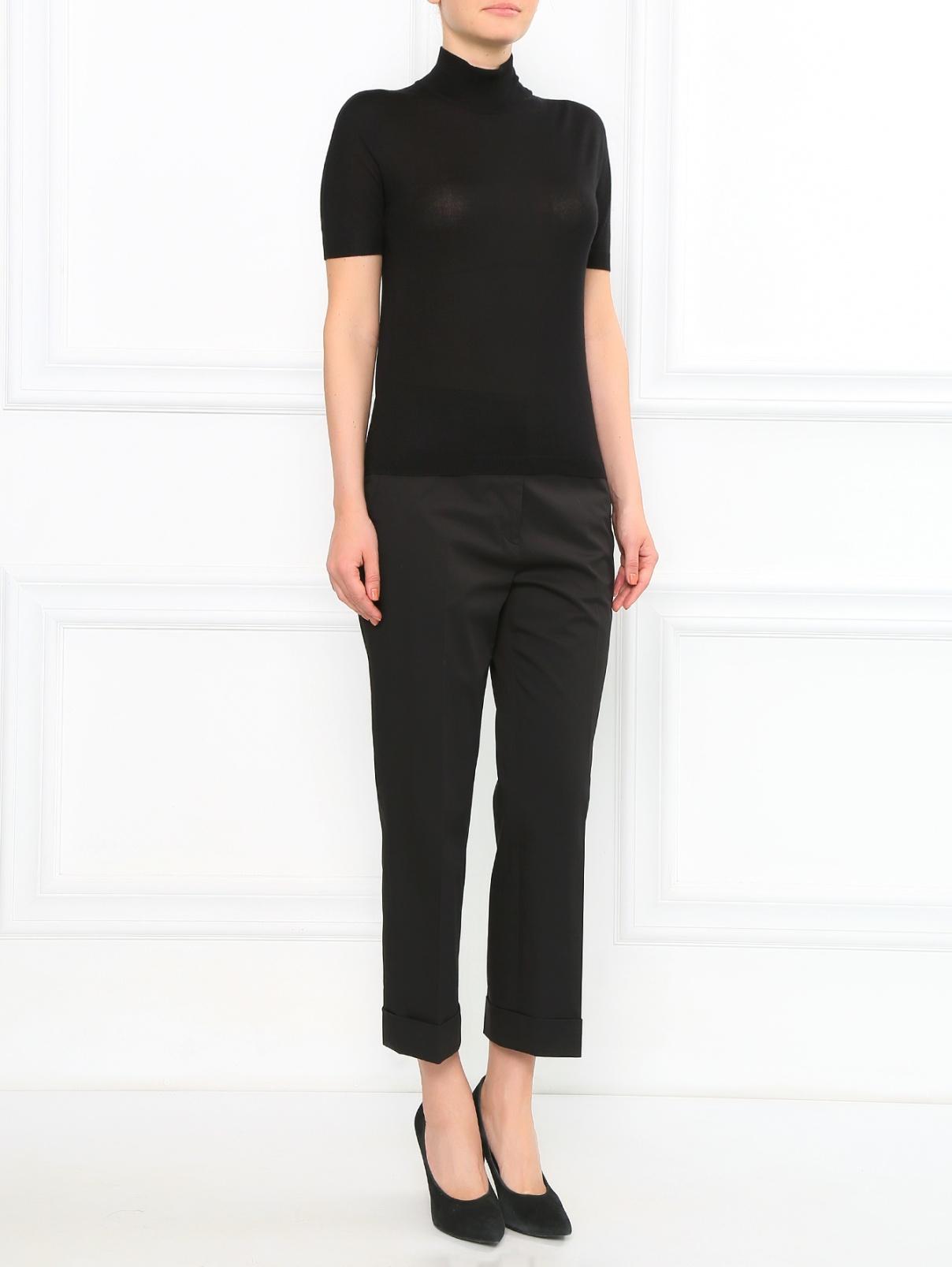 Укороченные брюки из хлопка с боковыми карманами Jil Sander  –  Модель Общий вид