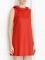 Платье-мини из кожи с декором DROMe  –  Модель Верх-Низ