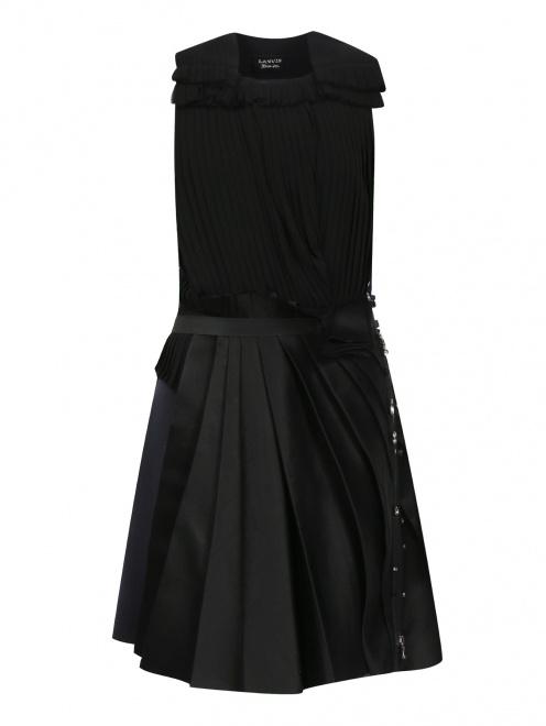 Платье из шелка декорированное кристаллами - Общий вид