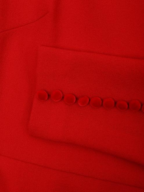 Платье А-силуэта из шерсти - Деталь