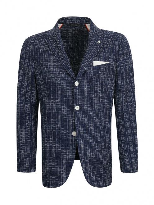 Пиджак с узором из шерсти и шелка - Общий вид