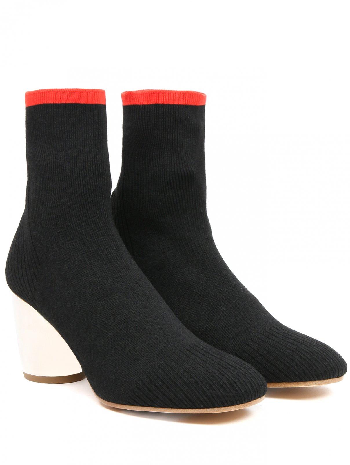 Ботильоны из текстиля на устойчивом каблуке Proenza Schouler  –  Общий вид  – Цвет:  Черный