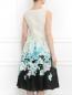Платье из шелка с цветочным узором Mariella Burani  –  Модель Верх-Низ1