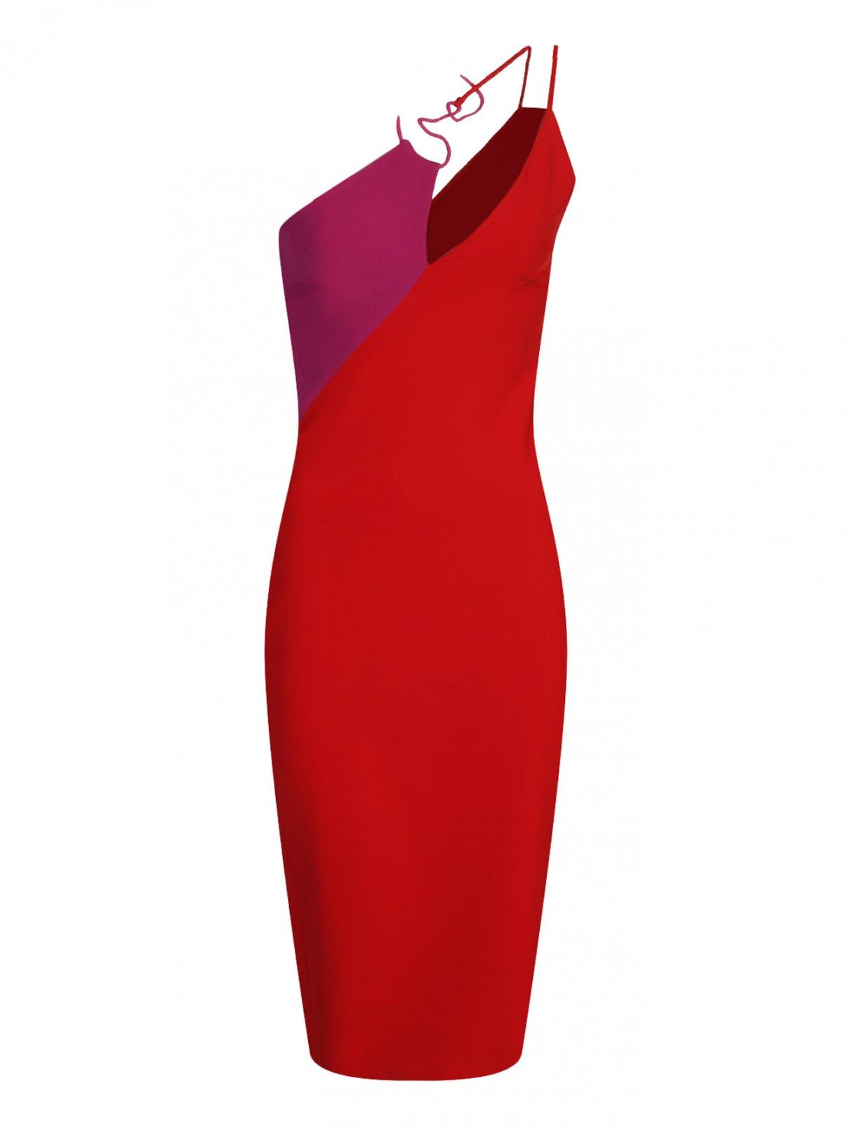 Платье-футляр с контрастной отделкой Cushnie et Ochs  –  Общий вид