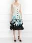 Платье из шелка с цветочным узором Mariella Burani  –  Модель Общий вид
