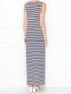 Платье-макси с узором полоска Pietro Brunelli  –  МодельВерхНиз1