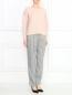 Свободны укороченные брюки с узором Emporio Armani  –  Модель Общий вид