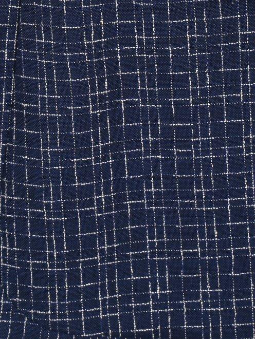 Пиджак с узором из шерсти и шелка - Деталь2