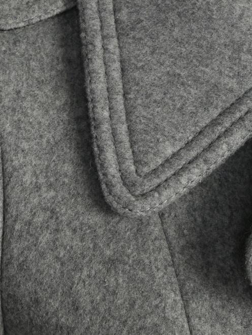 Пальто двубортное, из шерсти - Деталь