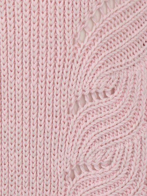 Платье крупной вязки из хлопка и шерсти - Деталь