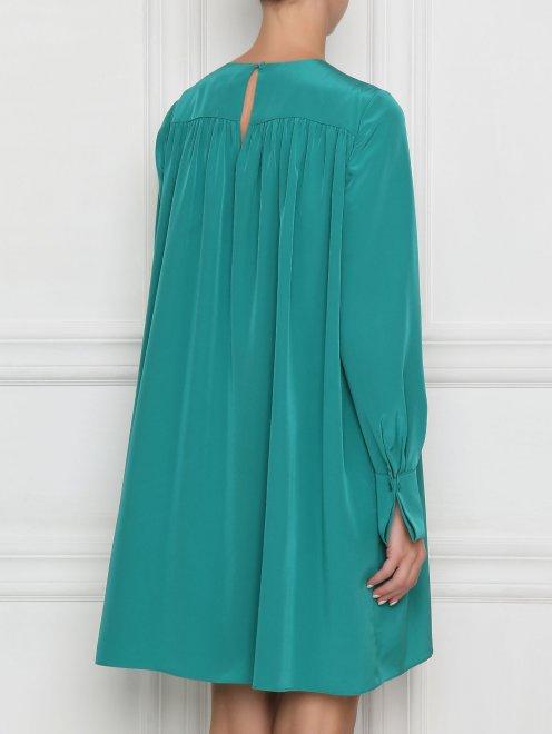 Платье свободного кроя с драпировкой - МодельВерхНиз1
