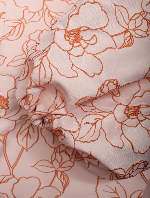 Платье-миди с цветочным узором - Деталь1