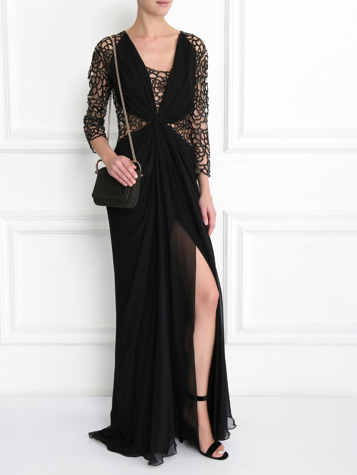 Платье-макси из шелка декорированное бисером Zuhair Murad  –  Модель Общий вид