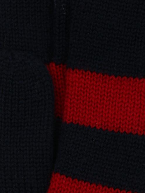 Перчатки трикотажные в полоску - Деталь1