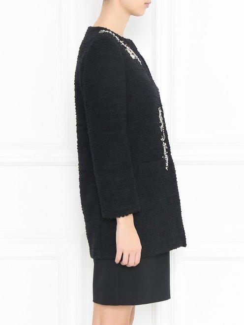Пальто из шерсти с аппликацией из кристаллов - МодельВерхНиз2