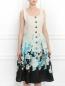 Платье из шелка с цветочным узором Mariella Burani  –  Модель Верх-Низ