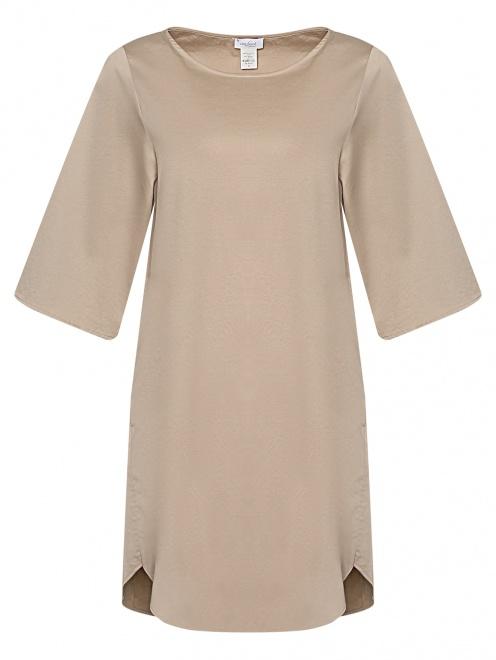 Платье из хлопка с рукавами 3/4 - Общий вид
