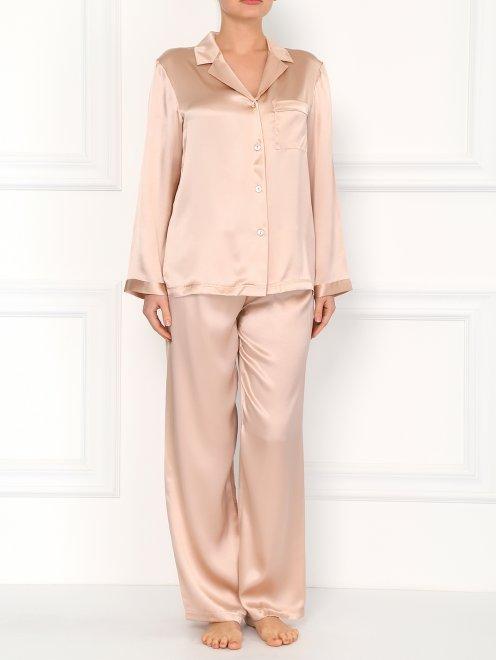 Пижама из шелка - Модель Верх-Низ