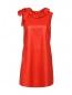 Платье-мини из кожи с декором DROMe  –  Общий вид
