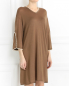 Платье из смешанного кашемира декорированное бусинами Andrew GN  –  Модель Верх-Низ