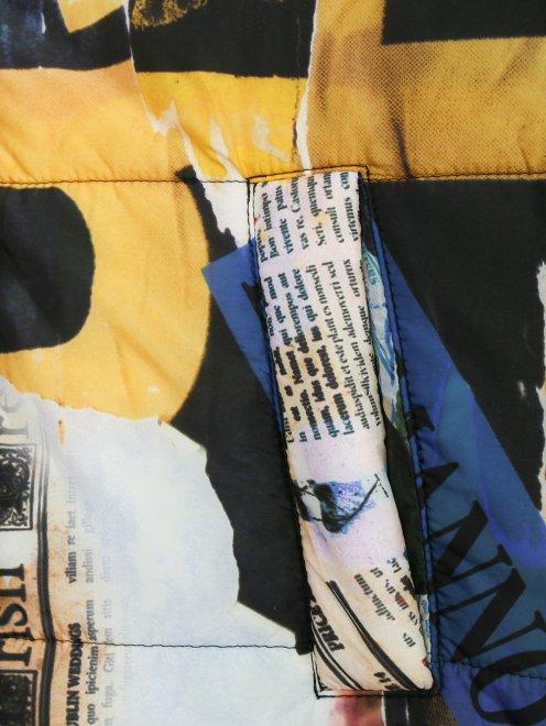 Куртка на молнии с узором - Деталь