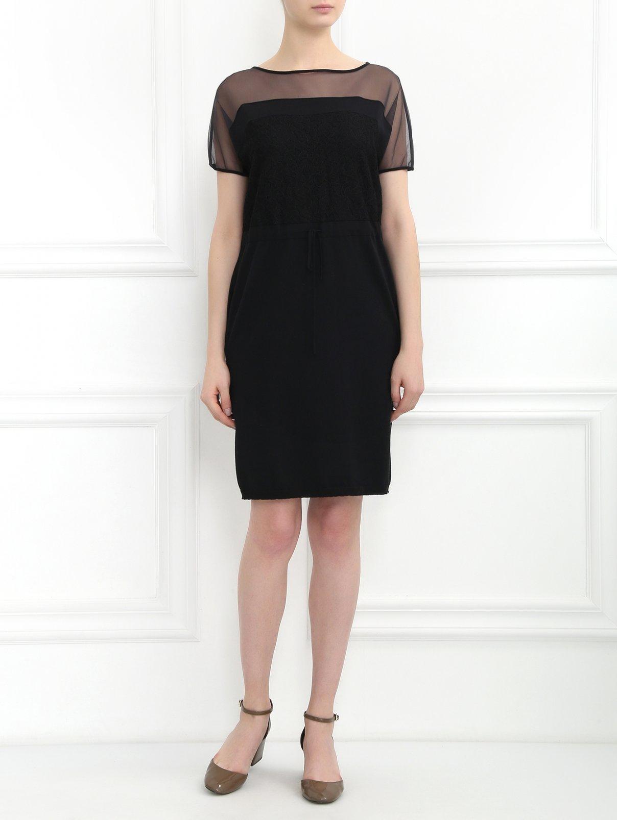 Платье с кружевом и полупрозрачной вставкой Antonio Marras  –  Модель Общий вид