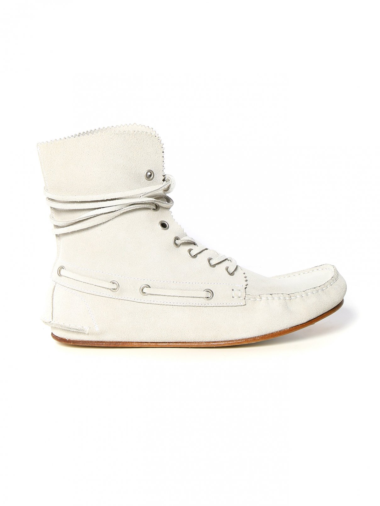 Ботинки из замши на шнуровке Philosophy di Lorenzo Serafini  –  Модель Общий вид  – Цвет:  Серый